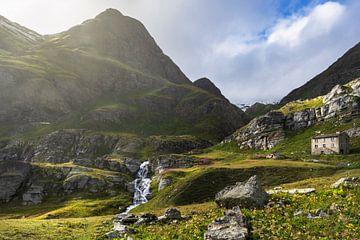 Wasserfall in den französischen Alpen