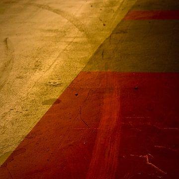 Vlakverdeling in oranje en geel van Rob van der Pijll