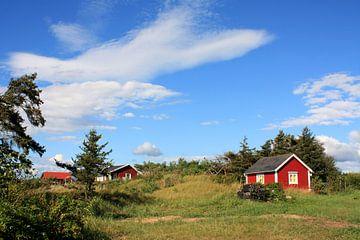 Zweedse huisjes van Margreet Frowijn