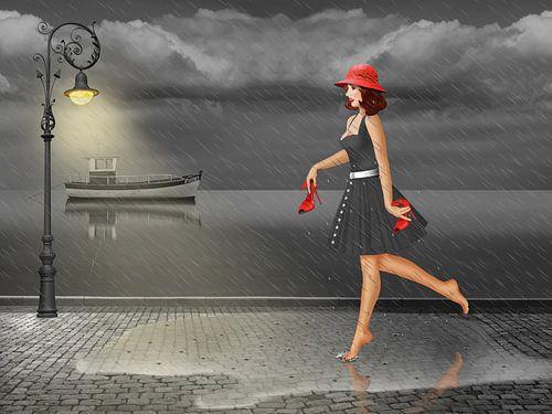 Dansen in de regen van Monika Jüngling