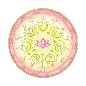 "Mandala ""Lotus Harmonie"" handgemalt van"