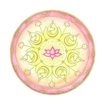 "Mandala ""Lotus Harmonie"" handgemalt sur Sylvia Polis"