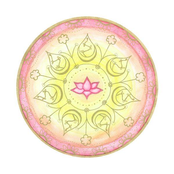 "Mandala ""Lotus Harmonie"" handgemalt von Sylvia Polis"