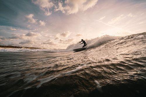 Surfer bij Domburg