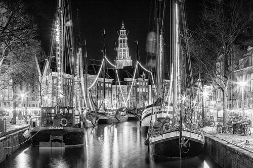 Zeilschepen in de binnenstad van Groningen