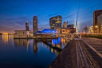 Skyline Rotterdam / Kop van Zuid von Dick van Duijn