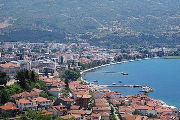 De stad ohrid gelegen aan het Meer van Ohrid von