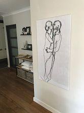 Klantfoto: De Innigheid / La Tendresse / The Ardour  (gezien bij vtwonen) van Kim Rijntjes, op canvas