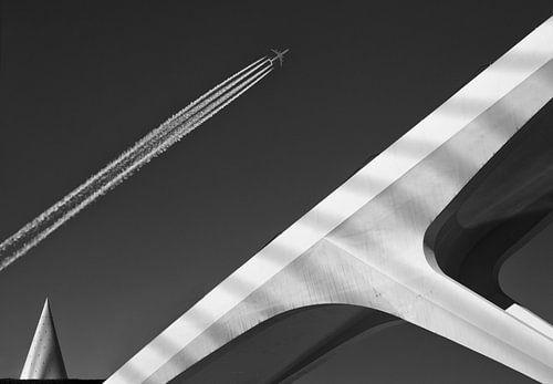 Vliegtuig brug van