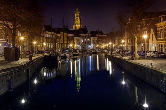 Novemberavond, Hoge der A in Groningen / 2014