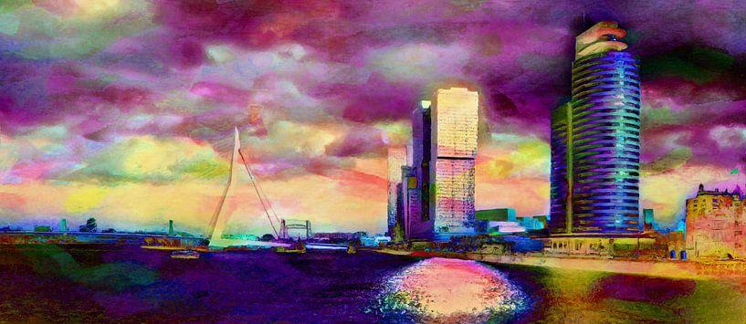 Rotterdam reflectie Vibrant van Frans Jonker