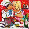 Samen koken van Vrolijk Schilderij thumbnail