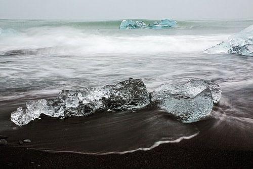 IJs voor de kust van IJsland van