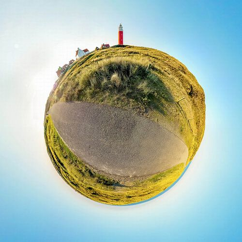 Tiny Planet Vuurtoren Eierland Texel van