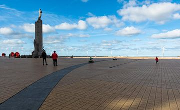 Der Seedeich in Ostende von Werner Lerooy