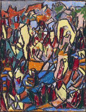 Belebte Landschaft, ADOLF HÖLZEL, Um 1925 von Atelier Liesjes