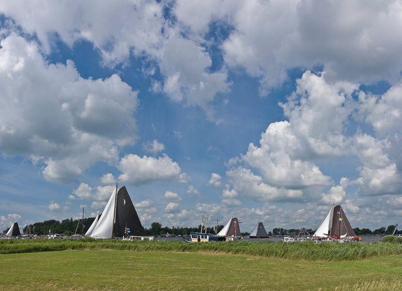 Skutsje Silen 2, De Veenhoop, Friesland van Rene van der Meer