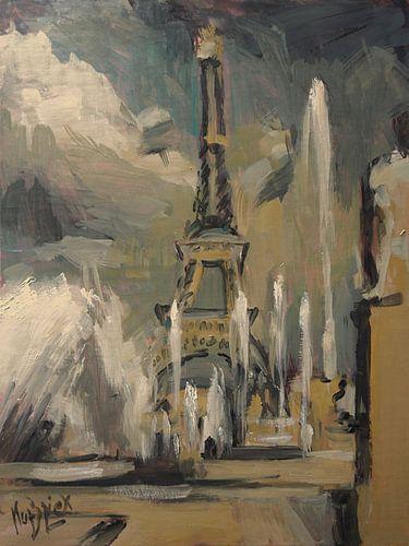 Happy fountains at Trocadéro von