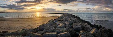 Sonnenuntergang am Brouwersdam von Jeroen Bukman