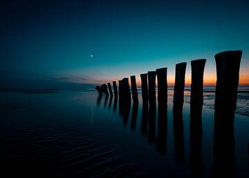 Wunderschöner Sonnenuntergang am Strand von Schoorl von Jeffrey Hoorns