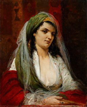 Oosters portret van een vrouw, Henri Emile LAPORTE van Atelier Liesjes