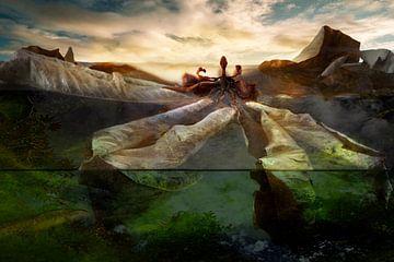 Surrelaistisch landschap van Marijke van Loon
