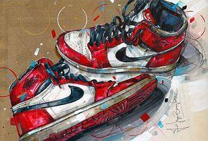 Nike air Jordan 1 Chicago 1985 peinture