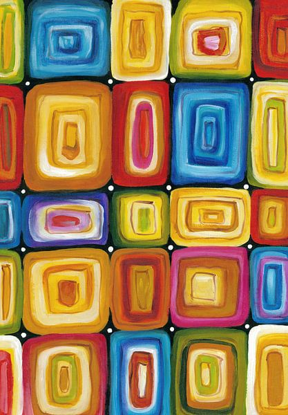 Abstract kleurrijk schilderij   Abstract 846 van Kunst Company