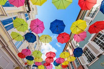 bunte Schirme von Heinz Grates