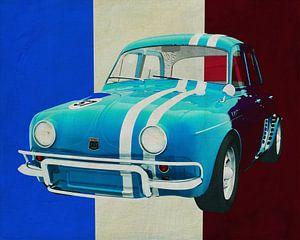 Renault Dauphine Gordini uit 1957 voor de Franse vlag. van Jan Keteleer