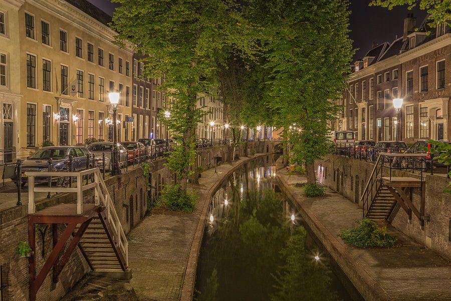 Nieuwegracht in Utrecht in de avond - 6