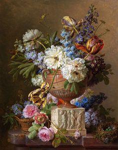 Nature morte de fleurs dans un vase d'albâtre, Gerard van Spaendonck, 1783
