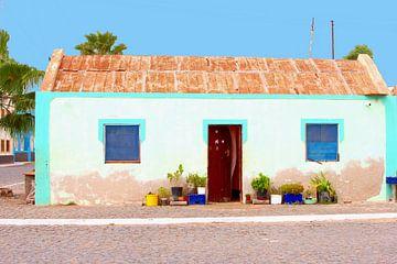Vissershuisje in Afrika van Inge Hogenbijl