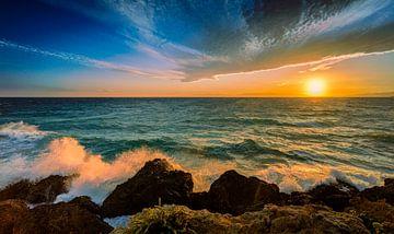 Sonnenuntergang Kalabrien Italien von Dick Jeukens