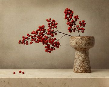 Rote Beeren, Stilleben von Joske Kempink