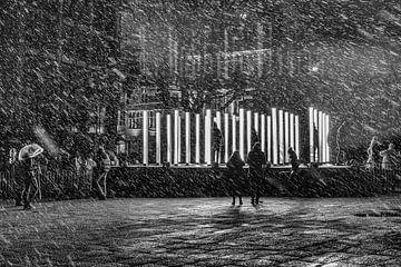 Sneeuwlicht van Willem Van Cauwenberghe