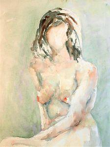 Weibliche Nacktheit.