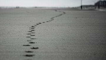 voetafdruk in zand  von Robby Stifter