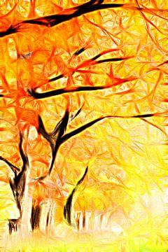 Herbstbäume van Lars Tuchel