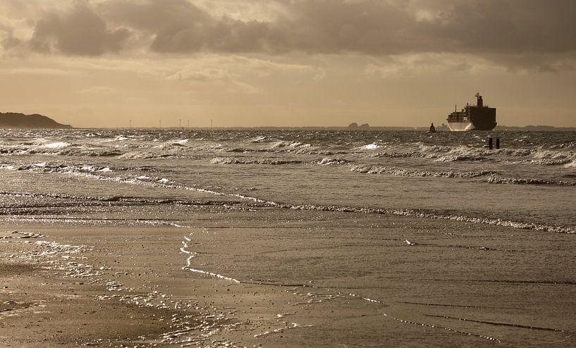 Scheepvaart voor de Zeeuwse kust van MSP Canvas