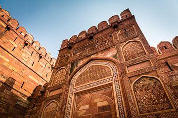 Bunte indische Tempel mit blauem Himmel von Part of the vision