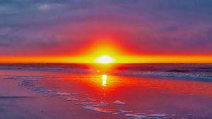 Sunset, Ameland, Niederlande