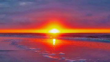 Sunset, Ameland, The Netherlands van Maarten Kost