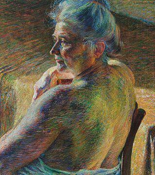 Akt von hinten (Gegenlicht) - Umberto Boccioni, 1909 von Atelier Liesjes