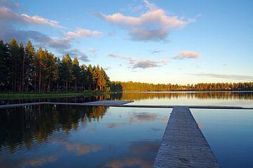 Stil meer in Lapland van Reinhard  Pantke