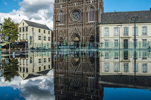 Spiegelbeeld van D'n Tilburgse Heuvel van