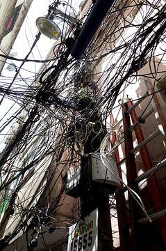 Telefonkabel in Brasilien von Kees van Dun