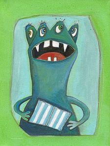 4ogen Monstertje - Schilderij voor Kinderen