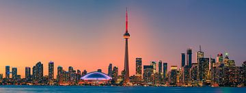 Panorama van de Toronto Skyline van Henk Meijer Photography