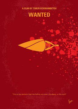 No176 My Wanted minimal movie poster van Chungkong Art